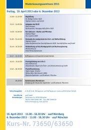 Programm Niederlassungsseminar - eazf