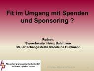 Umgang mit Spenden und Sponsoring im Vereinsrecht