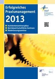 Programmheft Erfolgreiches Praxismanagement (ASS/ZUC) - eazf