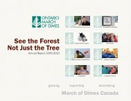 See the Forest Not Just the Tree - Ontario March of Dimes