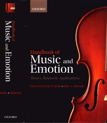 HANDBOOK OF MUSIC AND - Establishing New Traditions