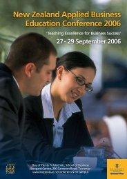 New Zealand Applied Business Education ... - nzabe.ac.nz