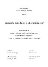 Corporate branding i medicinalbranchen - Kommunikationsforum