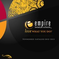 TENNESSEE CATALOG 2012-2013 - Empire Beauty School