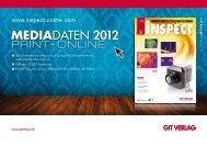 MEDIADATEN 2012 MEDIADATEN 2012 - GIT Verlag