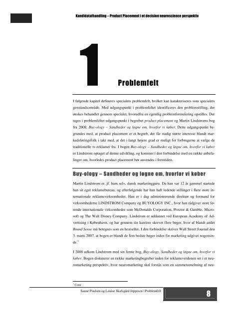 Kandidatafhandling – Product Placement i et decision neuroscience