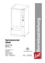 B etrieb san leitu n g Spiralautomat SN48 - Rudolf Wagner KG