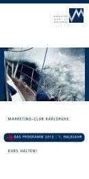 das programm 2012 - Marketing - Club Karlsruhe