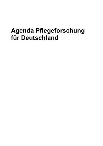 Agenda Pflegeforschung für Deutschland - IPP - Universität Bremen