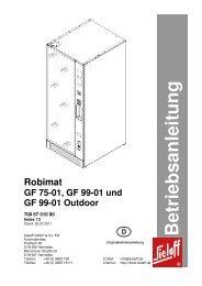 B etrieb san leitu n g Robimat GF 75-01, GF 99 ... - Rudolf Wagner KG