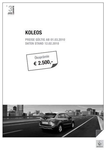 Preise Koleos - Renault