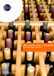Wine Supply Chain Traceability - GS1