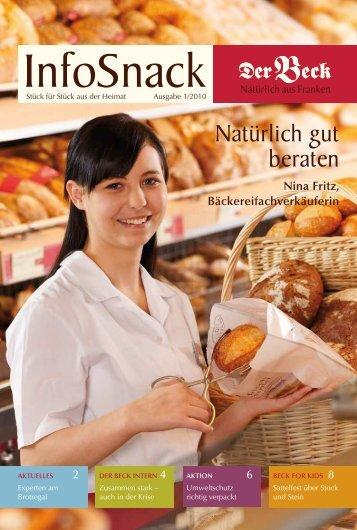 nina fritz, Bäckereifachverkäuferin - Der Beck