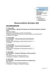 Wissenschaftliche Aktivitäten 2009 - Landeskrankenhaus Villach