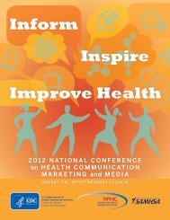 2012 national conference on health communication - Centers for ...