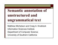 Semantic annotation of unstructured and ungrammatical text