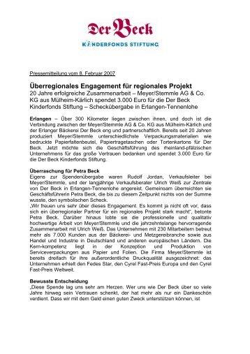Pressemitteilung Meyer-Stemmle - Der Beck