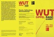 Wut-Gipfel: Programm Druckversion PDF / 870 kb - Haus der ...