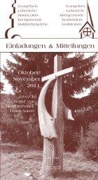 Oktober/November 201 - Martin-Luther-Kirchgemeinde Markkleeberg
