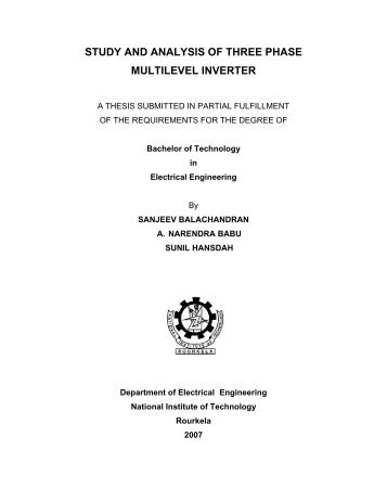 study and analysis of three phase multilevel inverter - ethesis ...