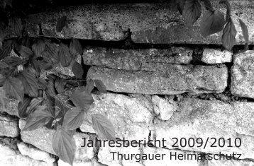 Jahresbericht 2009/2010 (5MB) - Schweizer Heimatschutz