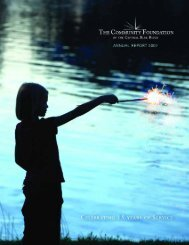 2007 Annual Report - Community Foundation of the Central Blue ...