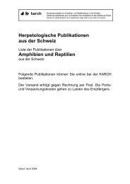 Herpetologische Publikationen aus der Schweiz Amphibien ... - Karch