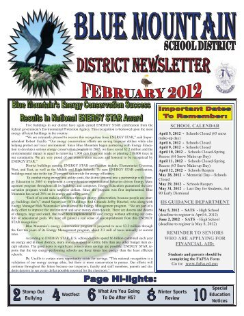 february 2012 - Blue Mountain School District