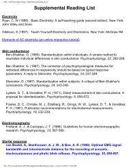 ARL: 804 Psychophysiology: Supplemental Reading List