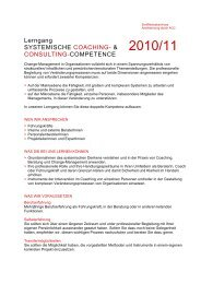 Lerngang SYSTEMISCHE COACHING- & CONSULTING - Retter