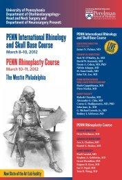 PENN International Rhinology and Skull Base Course PENN ...
