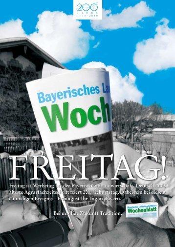 Freitag ist Werbetag bei der bayerischen Landwirtschaft ...
