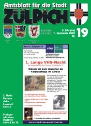 8. Jahrgang 11. September 2009 Nr. PARTNER ... - Stadt Zülpich