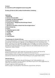Protokoll 52. Ordentliche SVPK-Delegiertenversammlung 2009 ...