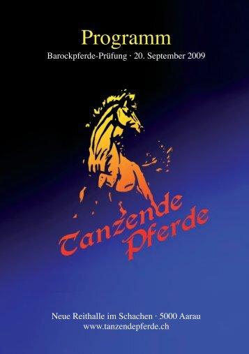 Programm (pdf) - Tanzende Pferde