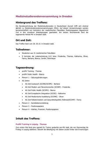2011-111-07_Bericht der MV in D - Fachschaft Medizin der FSU Jena