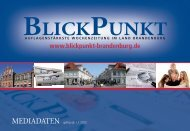 Mediadaten 2012 als PDF-Datei - BlickPunkt Verlag