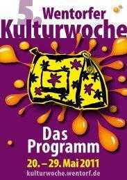 Das Programm - Wentorfer Kulturwoche - Gemeinde Wentorf bei ...