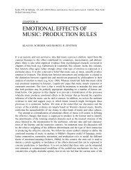 emotional effects of music: production rules - Establishing New ...