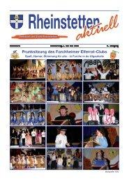 Prunksitzung des Forchheimer Elferrat-Clubs - Stadt Rheinstetten