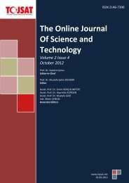 Turkish Online Journal of Educational Technology - TOJSAT