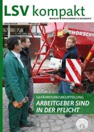 LSV kompakt Oktober 2012 - Landwirtschaftliche Sozialversicherung