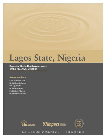 Lagos State, Nigeria - Family Health International