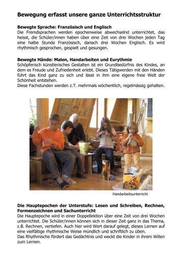 Bewegung erfasst unsere ganze Unterrichtsstruktur - Rudolf Steiner ...