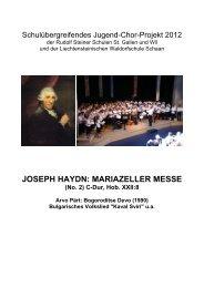 joseph haydn: mariazeller messe - Rudolf Steiner Schule St. Gallen
