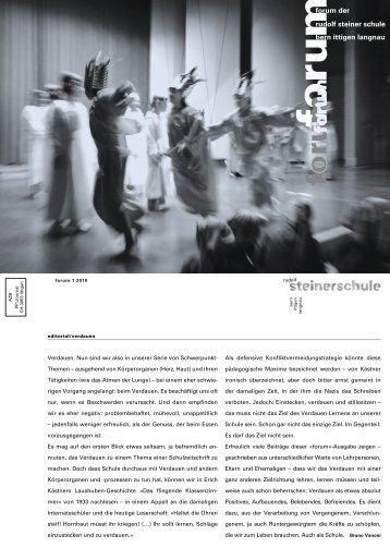 forum der rudolf steiner schule bern ittigen langnau - Rudolf ...