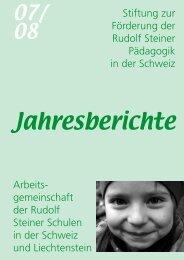 Jahresbericht - Rudolf Steiner Schulen der Schweiz