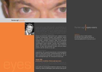 florian egli gestalter - florian egli, eyes + ears