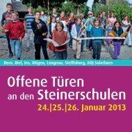 Programm in Bern, Ittigen, Langnau - Steinerschulen Region Bern