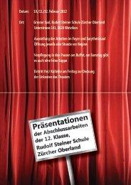 Datum: 10./11./12. Februar 2012 Ort: Grosser Saal, Rudolf Steiner ...